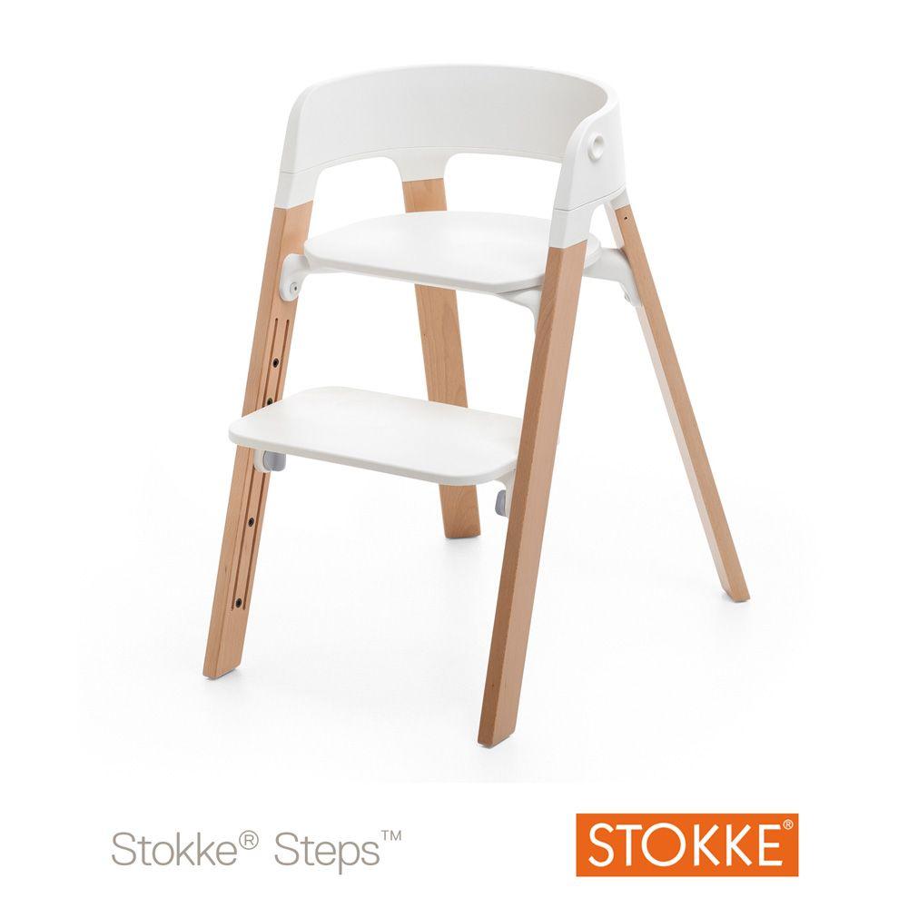 pieds pour la chaise haute steps hêtre gris tempête | as and bebe - Location Chaise Haute Bebe