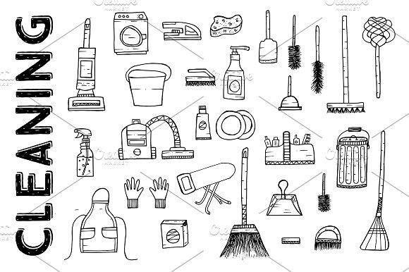 Cleaning Tools Cleaning Service Cleaning Tools Pattern