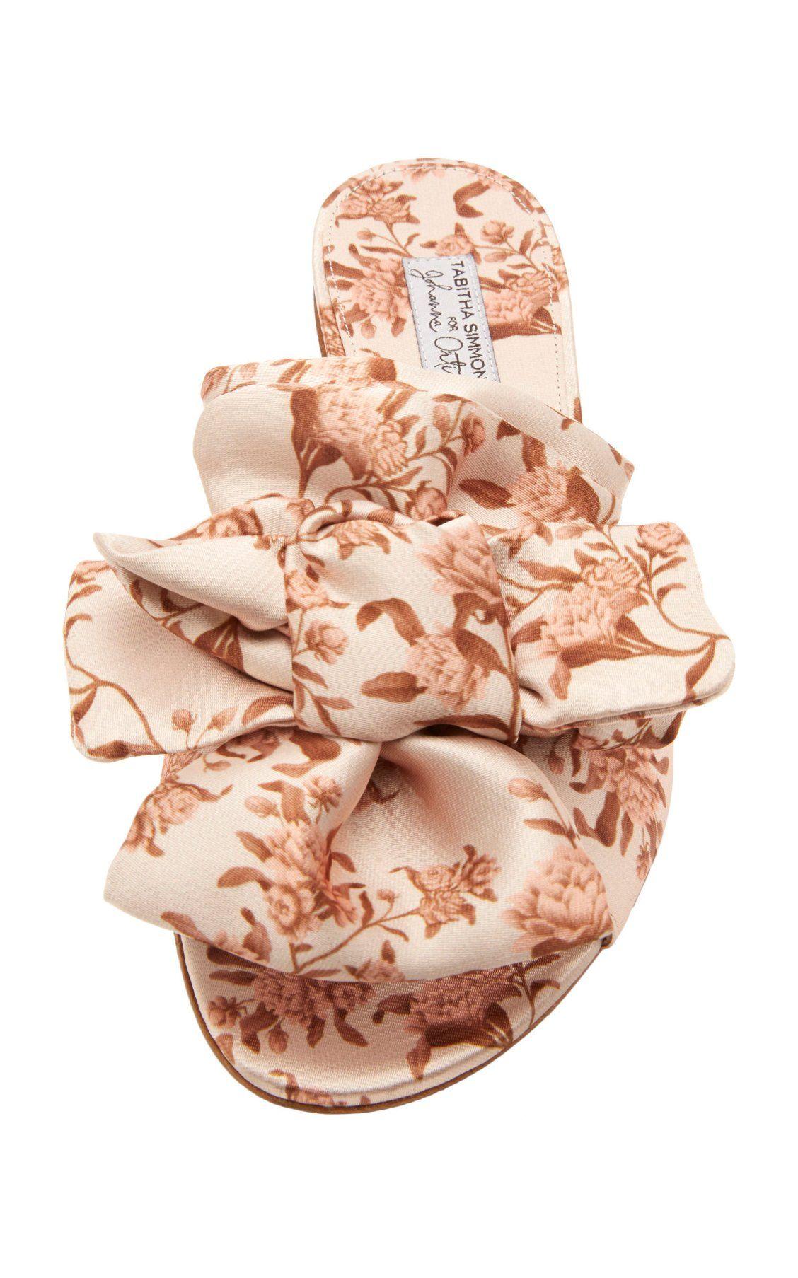 8f8f5e8c707d Camilla Floral Silk Bow Slides by Tabitha Simmons x Johanna Ortiz SS19