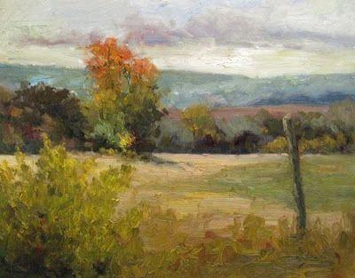 "Landscape Artists International: ""Autumn Fields"" Original Colorado Fields Landscape Painting by Western Colorado Artist Barbara Churchley"