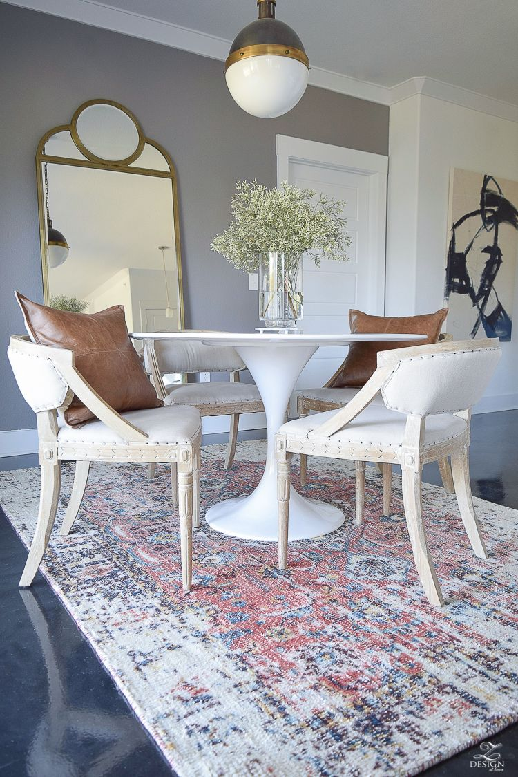 5 Simple Tips For Layering Your Rugs Rug Updates Around The House Zdesign At Home Home Decor Rug Under Kitchen Table Interior Design Kitchen