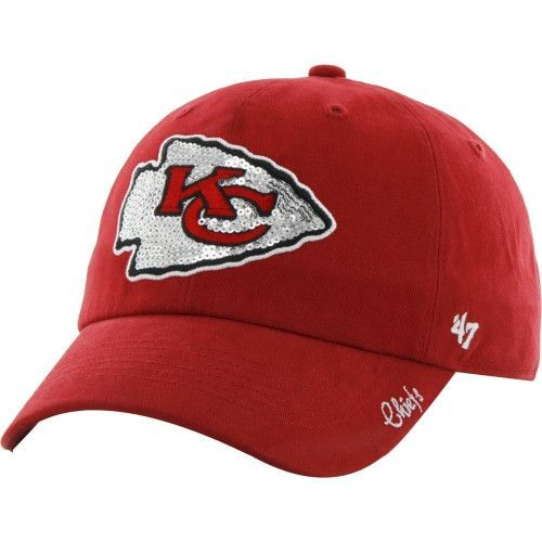 3b6dc5e3 Kansas City Chiefs Sparkle Adjustable Ladies Hat by '47 Brand ...