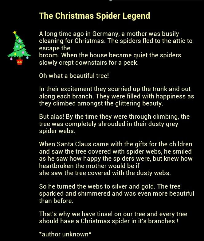 Legend Of The Christmas Tree Poem: Christmas Spider, Ukrainian