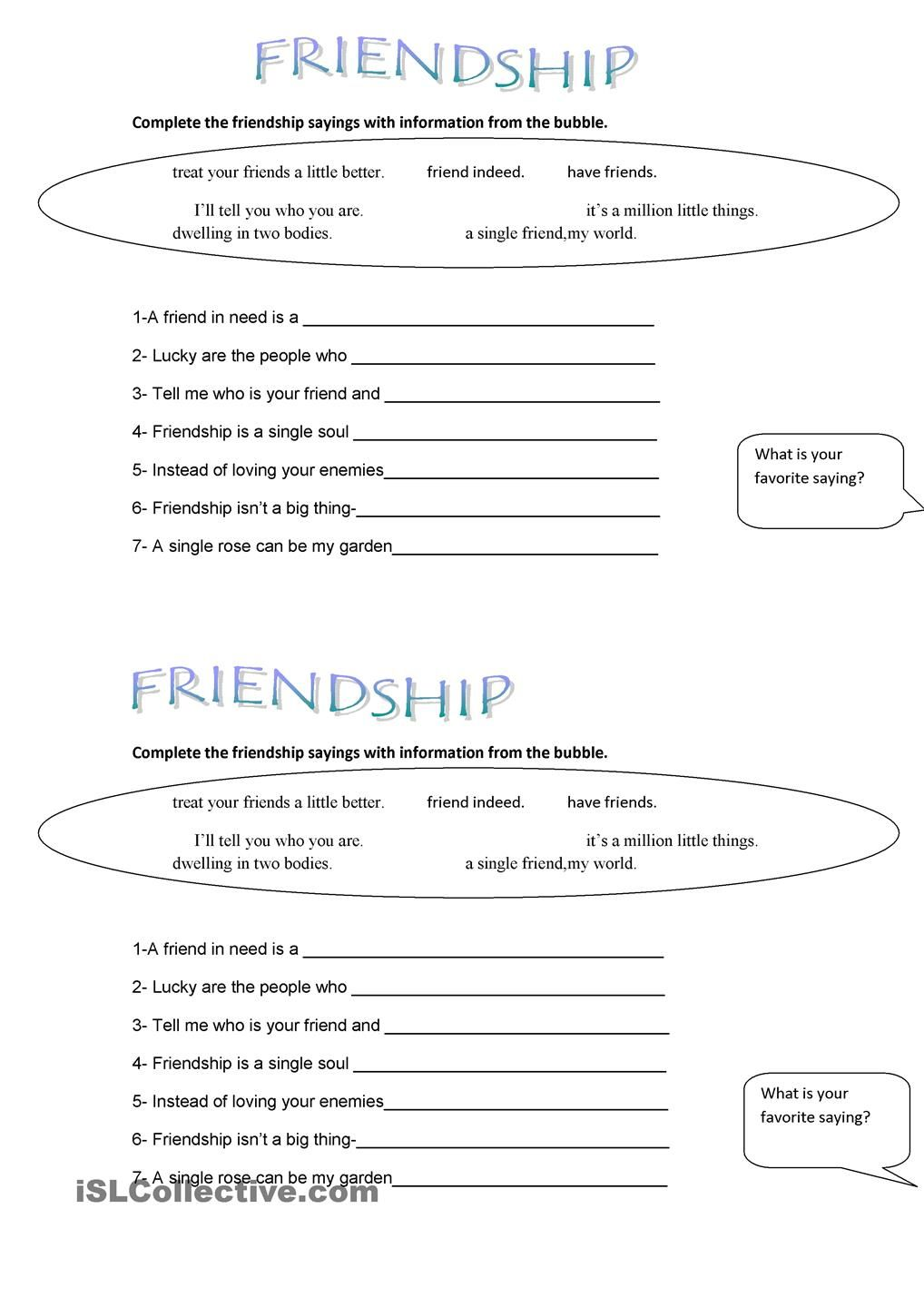 FRIENDSHIP SAYINGS | ISLCOLLECTIVE MATERIALS | Pinterest ...
