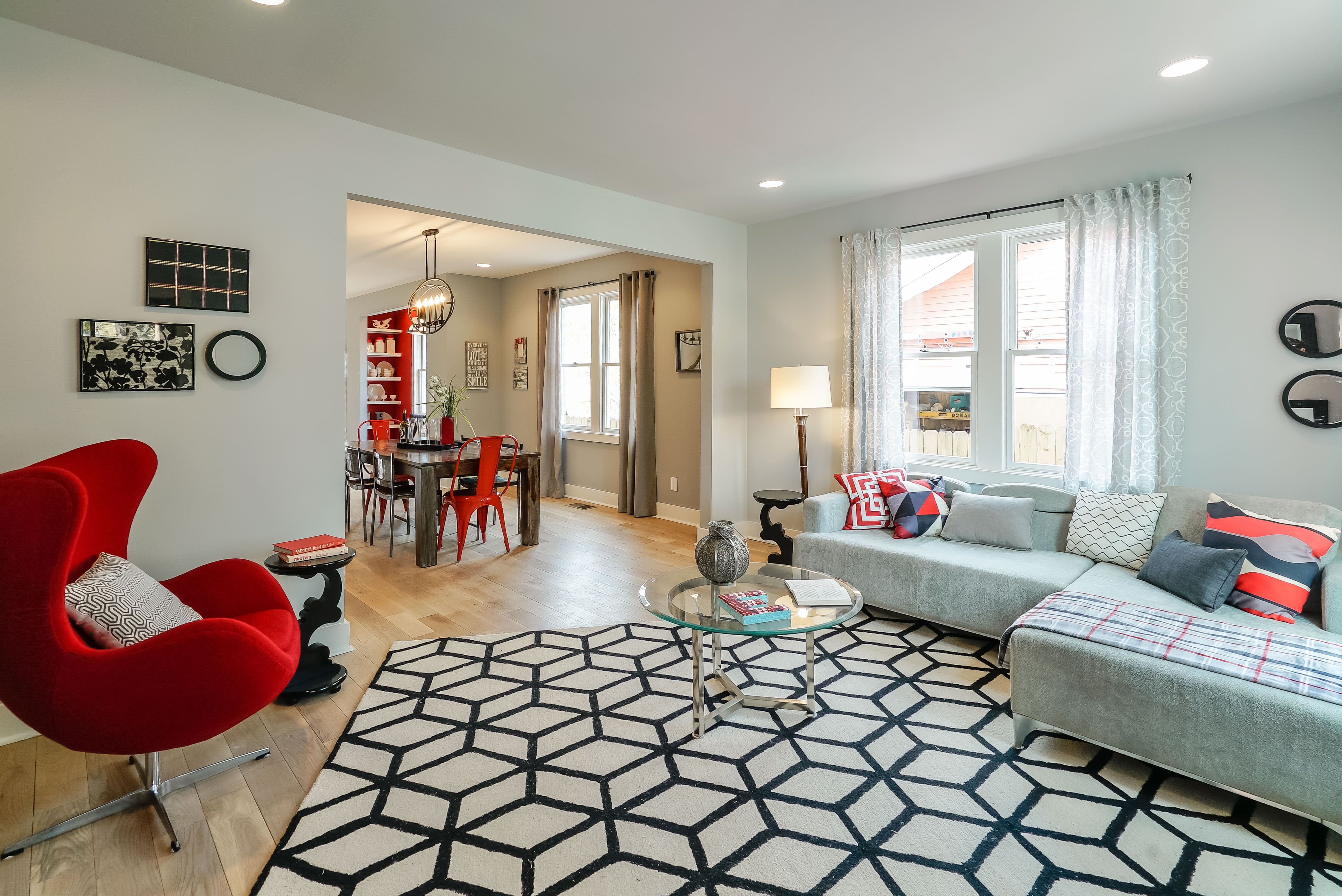 Kortney Wilson Goes Vintage, Modern and Red in Duplex Redesign ...