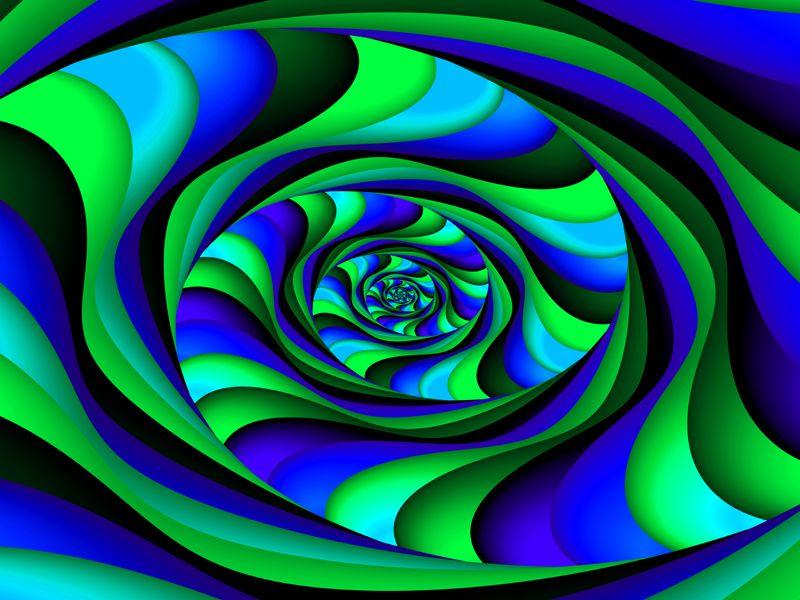 Fractal Art Wallpaper, Blue Green Swirl | Blue and Green ...