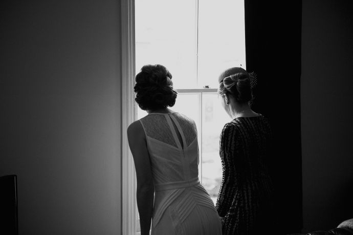Anna and Ian: Chic Clerkenwell Wedding,  Max Azria Wedding Dress, Getting Ready, http://www.candidandfrankphotography.com