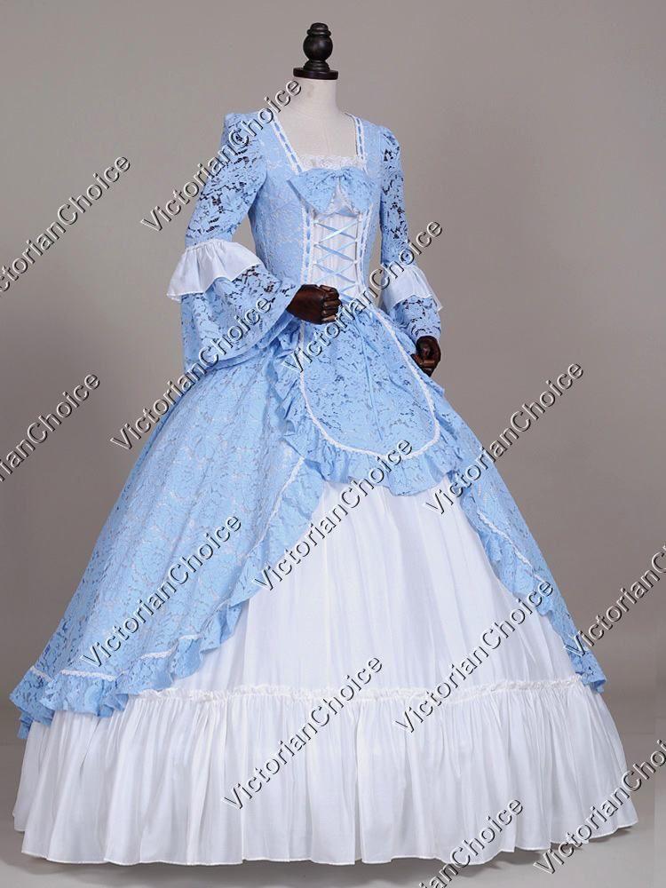 Renaissance Colonial Winter Wonderland Holiday Dress Ball Gown Theater  Reenactment Costume c84afcf5ec8d