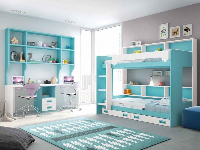 lit superpos avec bureau personnalisable f261 glicerio lits enfants pinterest lit. Black Bedroom Furniture Sets. Home Design Ideas
