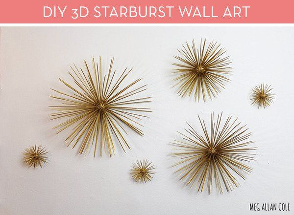 Starburst Wall Decor make it: diy mid-century modern 3d starburst wall art | diy design