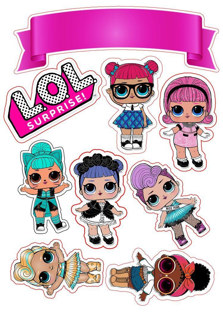 Topo De Bolo Lol Surprise Lol Dolls Birthday Surprise Kids Lol Doll Cake