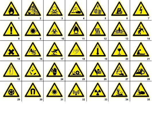 35 Free Warning Signs Symbols Safety Signs And Symbols Hazard Sign Warning Signs