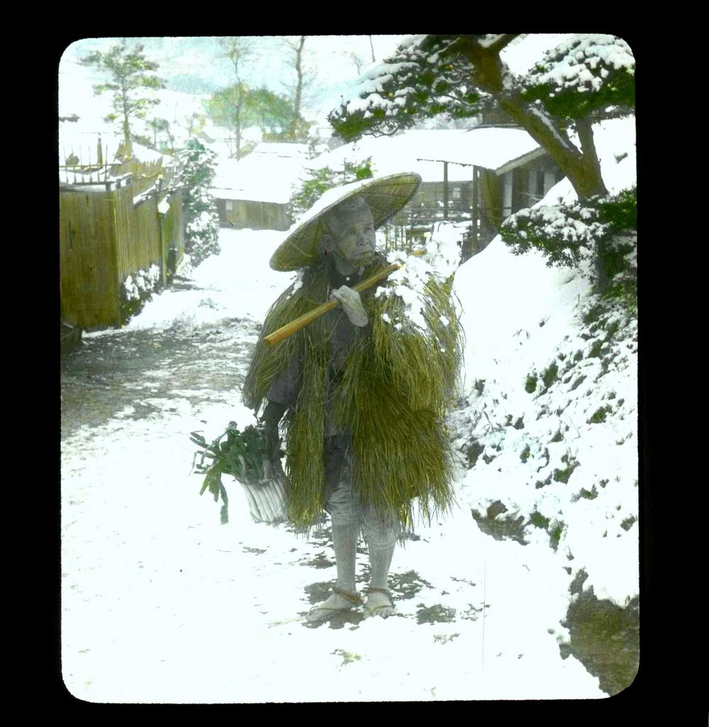 Old man at the snow country by T. Enami