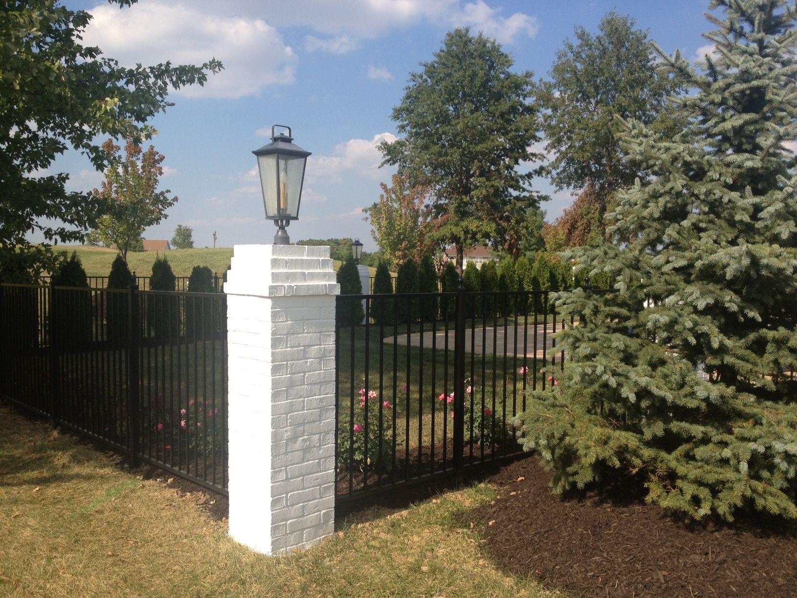 Brick fences for fencing modern castles 92
