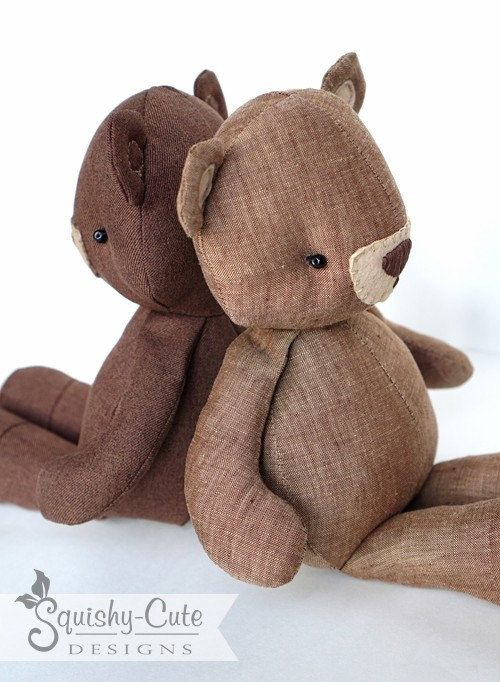 Teddy Bear Sewing Pattern PDF Bear Stuffed by SquishyCuteDesigns ...