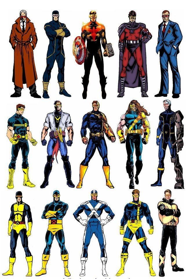 "astonishingx: "" Cyclops over the years (and alternate ..."
