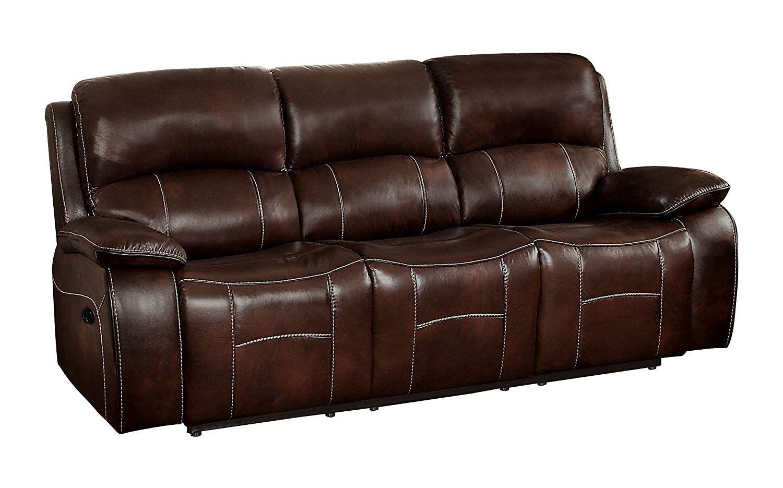 Homelegance Mahala Double Recliner Sofa Top Grain Leather Match