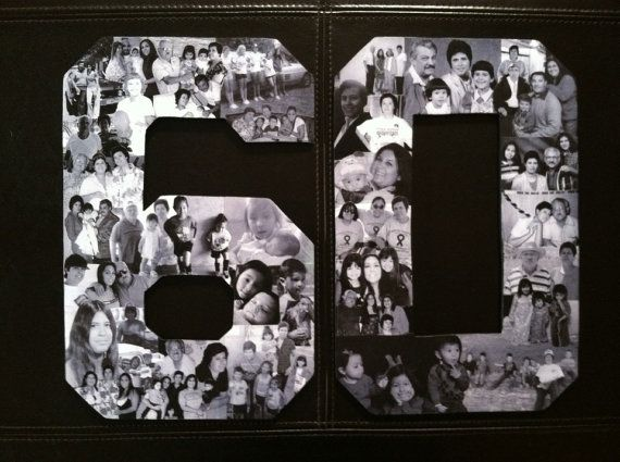 Birthday Photo Collage. Custom Milestone by picketfencecrafts #moms50thbirthday