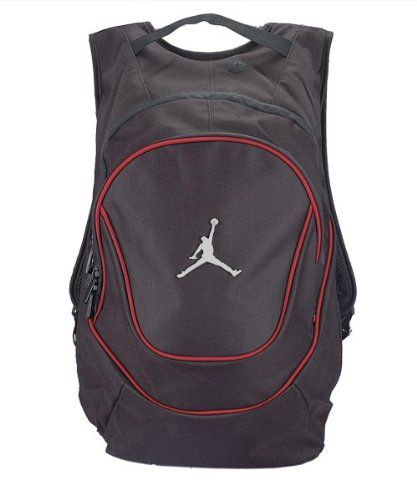 eafff4628ae8 Jordan Nike Air Jumpman Backpack Book Bag-Black Red     Nike Jordan Jumpman  Backpack 9A1118-023 Black Red School Bag 100% Polyester Jumpan On front  Side ...