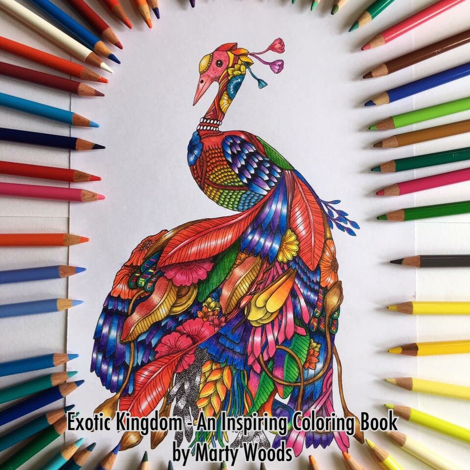 Grown up colouring books kmart - Maharanee From Book Exotic Kingdom By Marty Woods Colored By Marty Woods Using Faber Castell