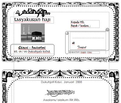 Download Undangan Tasyakuran Haji Format Doc Ms Word Bxfgf