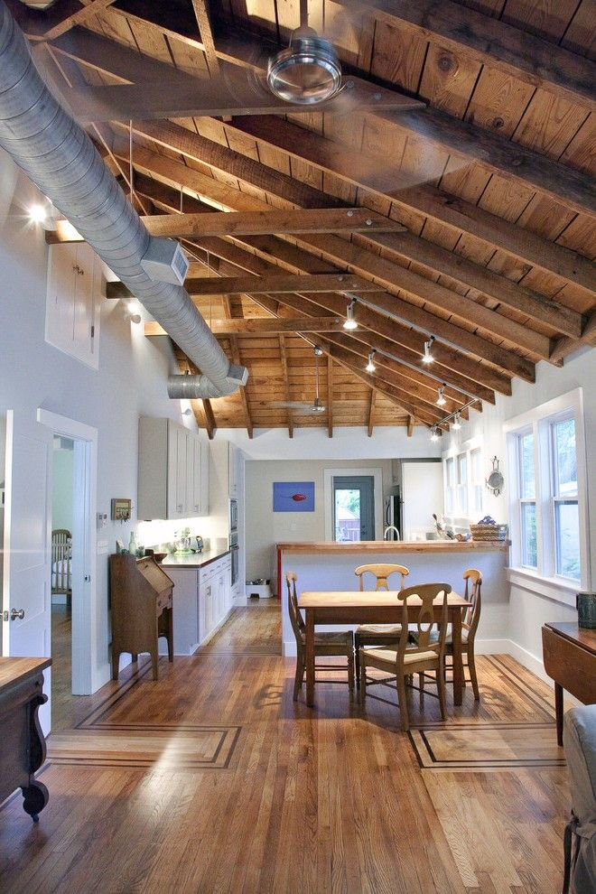 Room In Attic Truss Design: Open Rafter Ceiling Designs