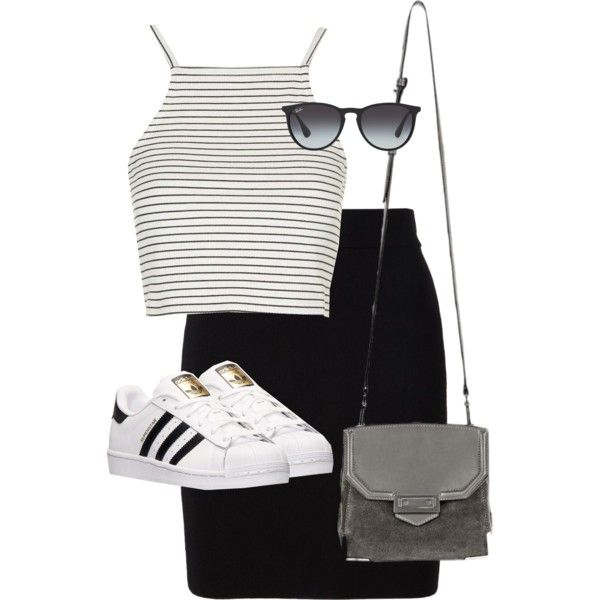 Untitled #8529 by alexsrogers on Polyvore featuring moda, Topshop, T By Alexander Wang, adidas, Alexander Wang and Ray-Ban
