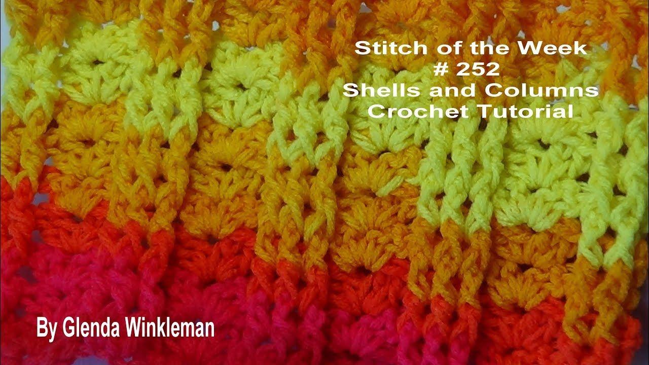 Stitch Of The Week 252 Shells And Columns Crochet By Tashiab Basic Granny Square Diagram Tutorial Watch Learn Pinterest Tutorials
