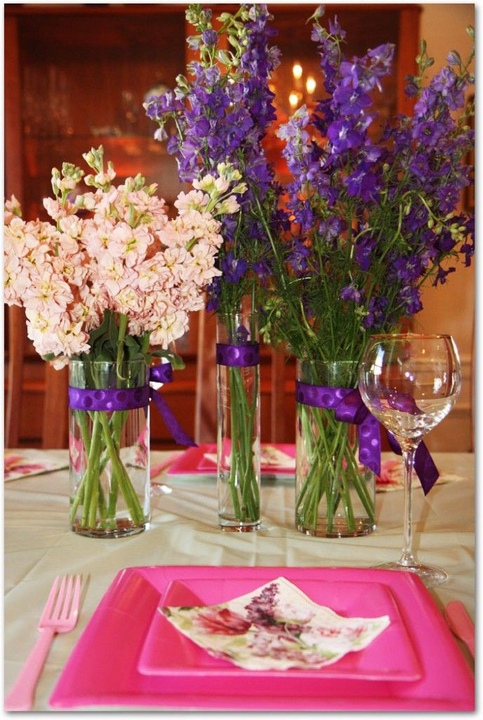 bridal shower flowers with