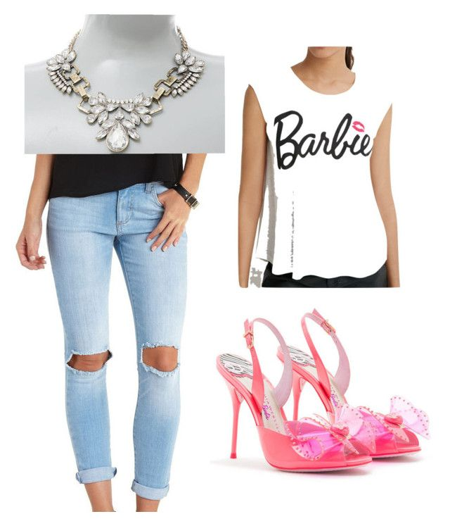 """Barbie"" by hjstephens-1 on Polyvore featuring Sophia Webster, Forever 21 and Charlotte Russe"