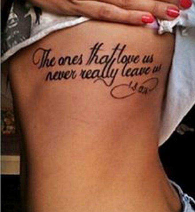 Idées De Phrases Pour Tatouage The Ones That Love Us Never