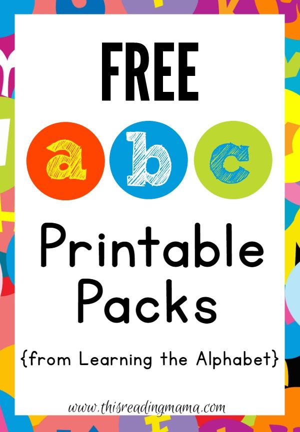 FREE ABC Printable Packs {Learning the Alphabet} Best of This