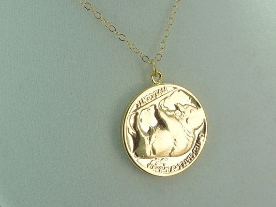 SALE Real Buffalo Nickel Coin Pendant Necklace  REAL by Magicloot, $38.22
