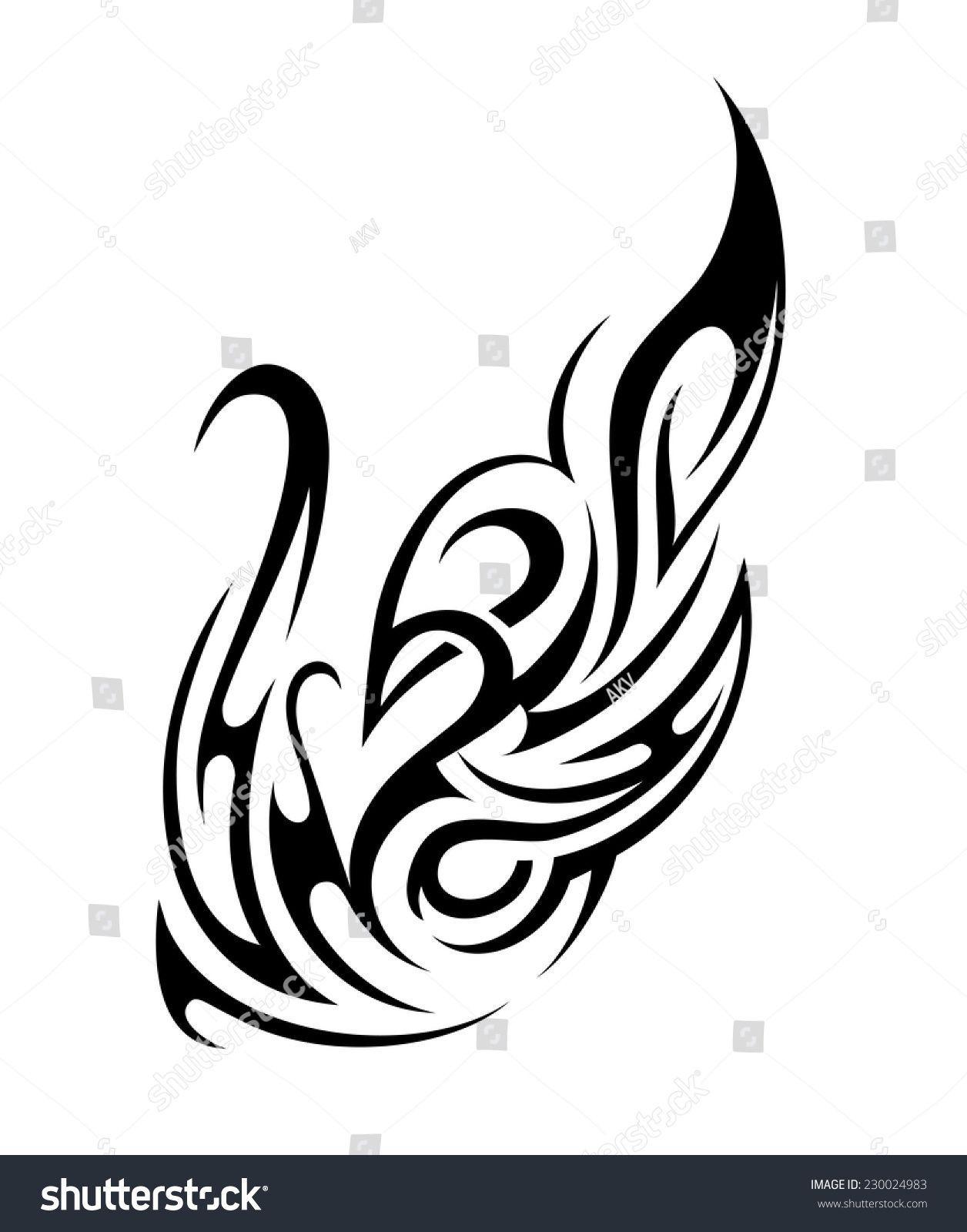 aac36d7cb Tribal Fire Vector tribal fire flame tattoo shape stock vector ...