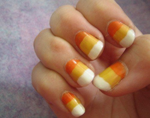 Nail Designs For Kids To Do It Yourself Jpg 500 395 Candy Corn Nails Halloween Nail Designs Halloween Nail Art