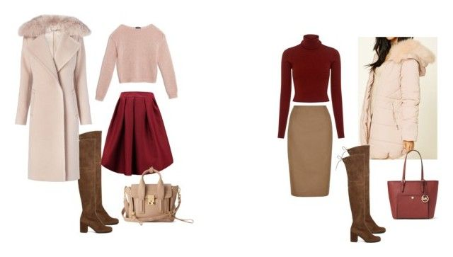skirt by nadia-skibina on Polyvore featuring мода, A.L.C., Max&Co., Diane Von Furstenberg, Forever 21, Hobbs, Stuart Weitzman and MICHAEL Michael Kors