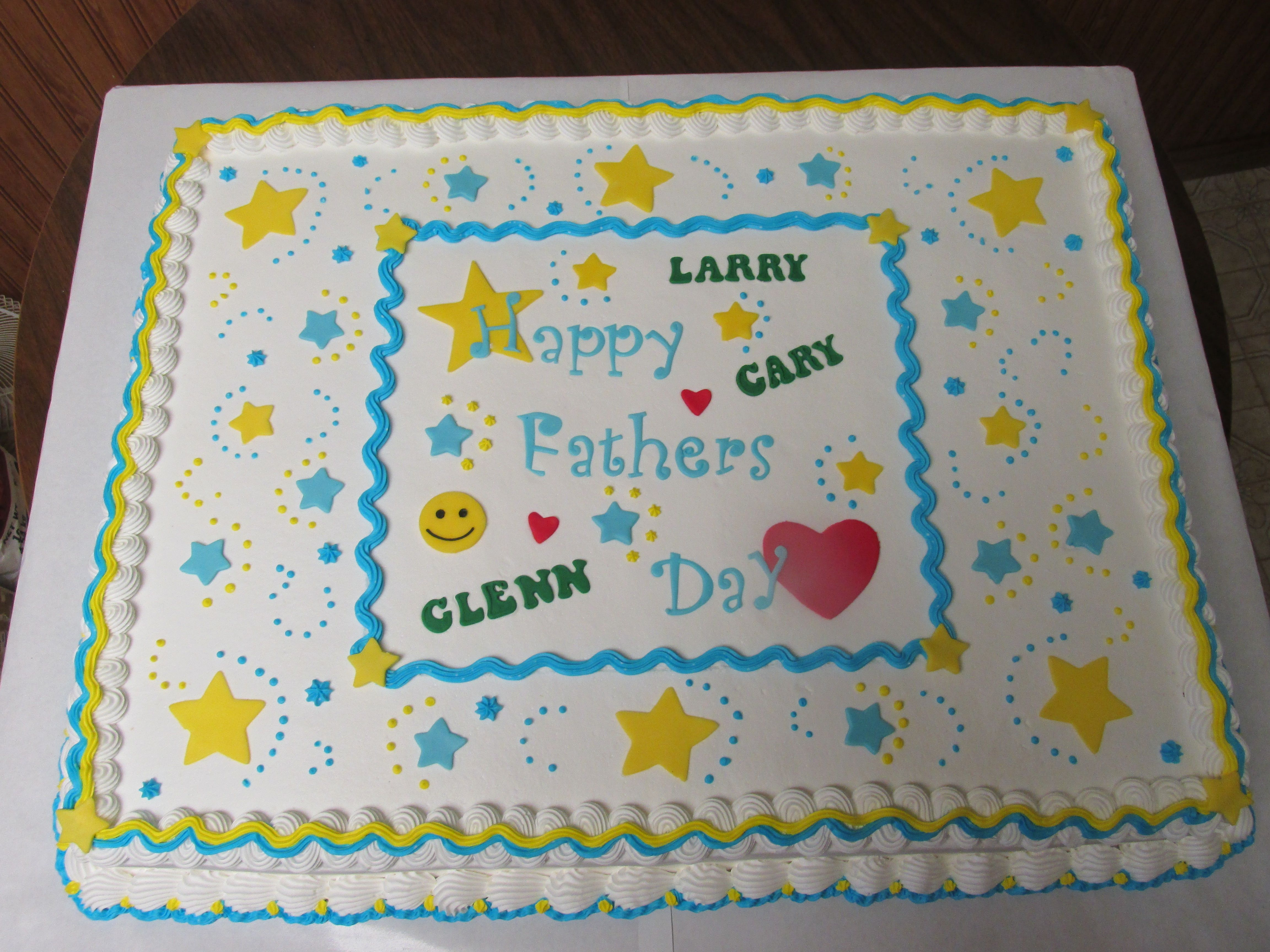 Full sheet cake for three fathers on fathers day full