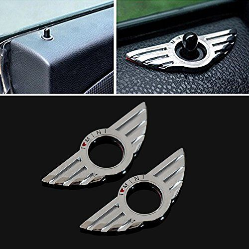 9 Moon Car Metal Door Lock Decoration Ring For Bmw Mini Cooper Auto