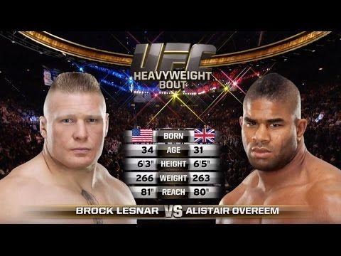 Fight Night Rotterdam Free Fight Alistair Overeem Vs Brock Lesnar Fight Night Fight Brock Lesnar