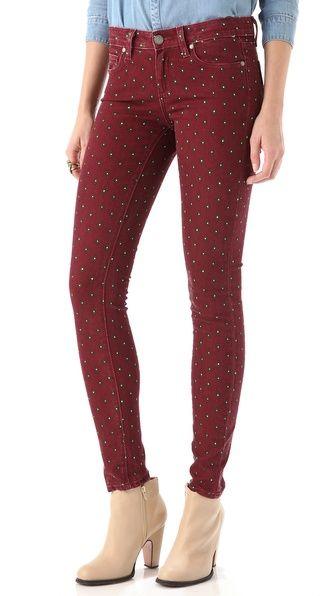 Paige Denim Geo Verdugo Ultra Skinny Jeans Cardinal Diamond