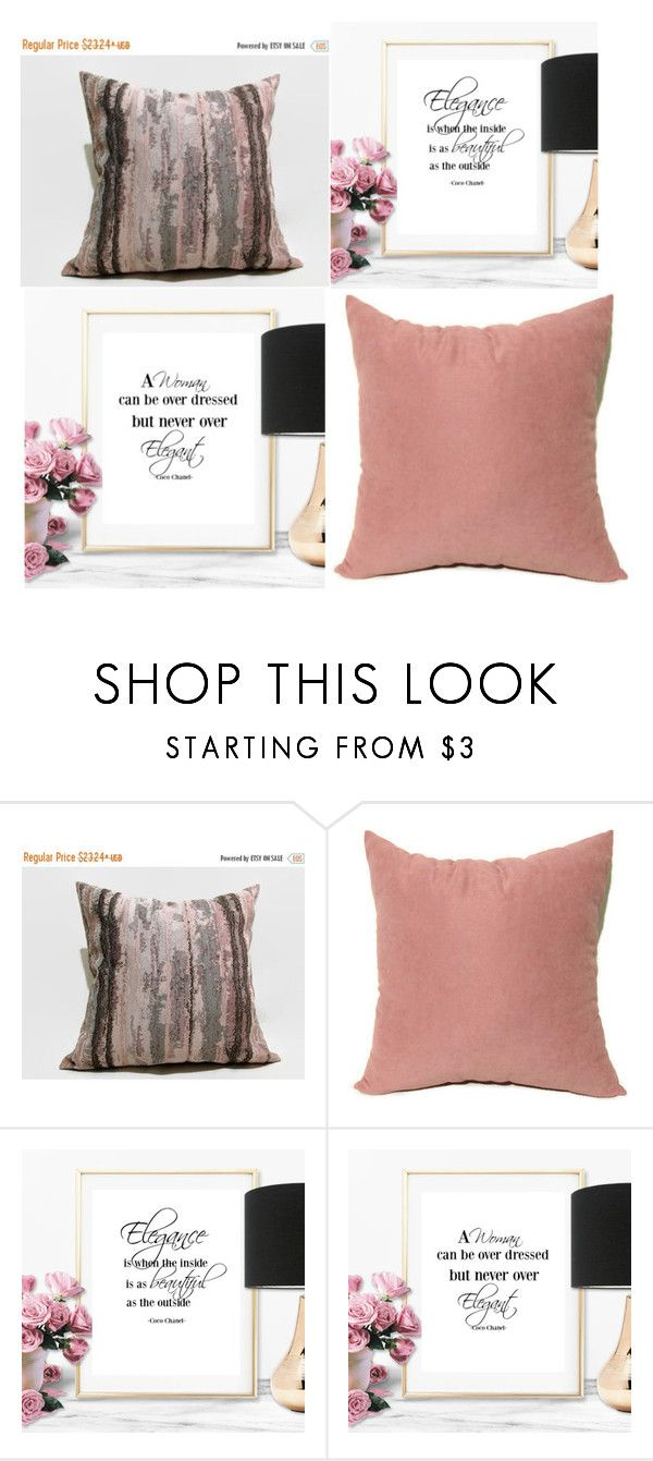 """#blush kat pillow #blush velvet pillow  #poster prints"" by eulica on Polyvore featuring interior, interiors, interior design, дом, home decor, interior decorating, etsy, blush, homedecor и magenta"