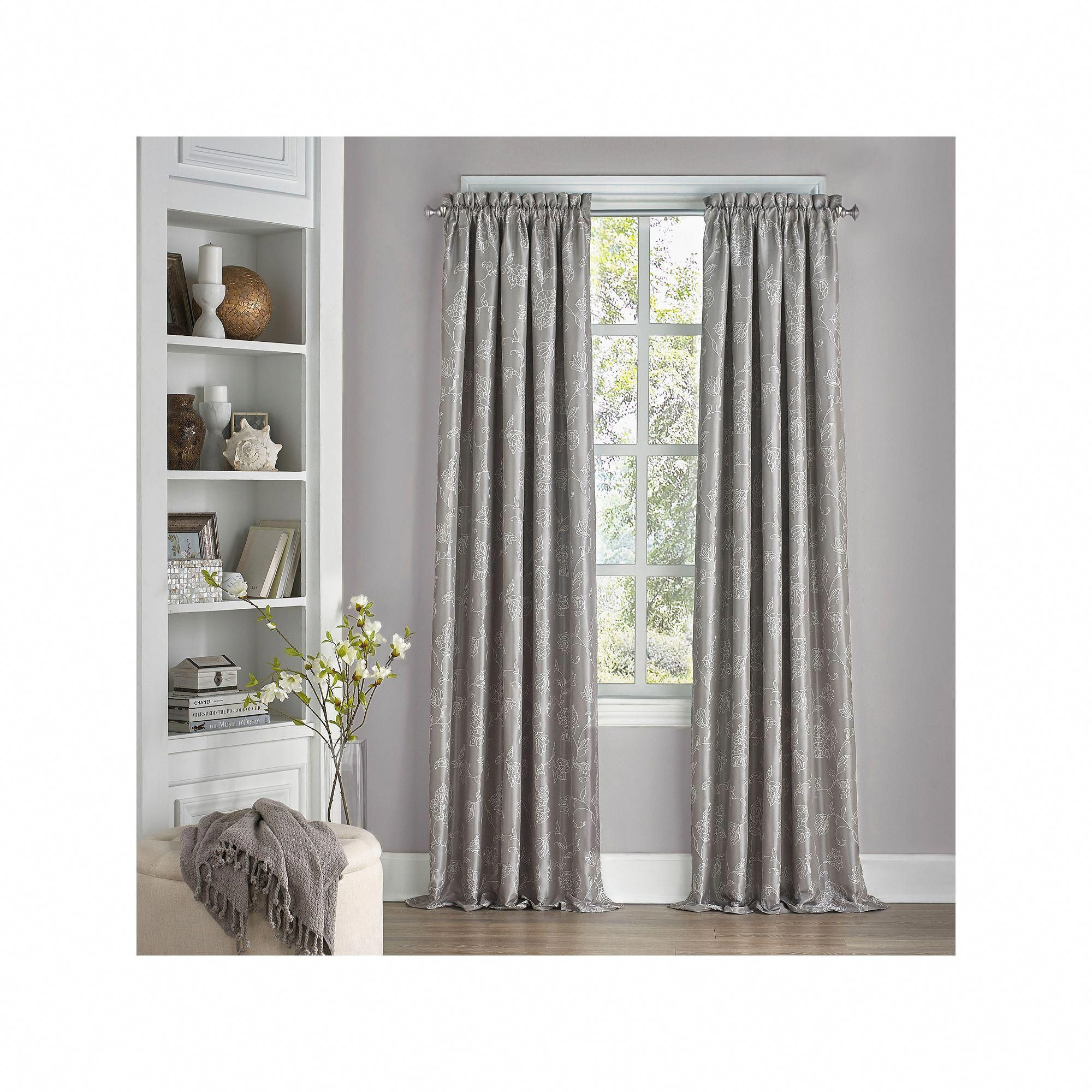Eclipse Thermalayer Blackout 1 Panel Macey Window Curtain Grey
