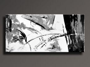 Moderne Kunst Bilder Schwarz Weiss ~ Abstrakte malerei schwarz weiß grau malerei große moderne wand