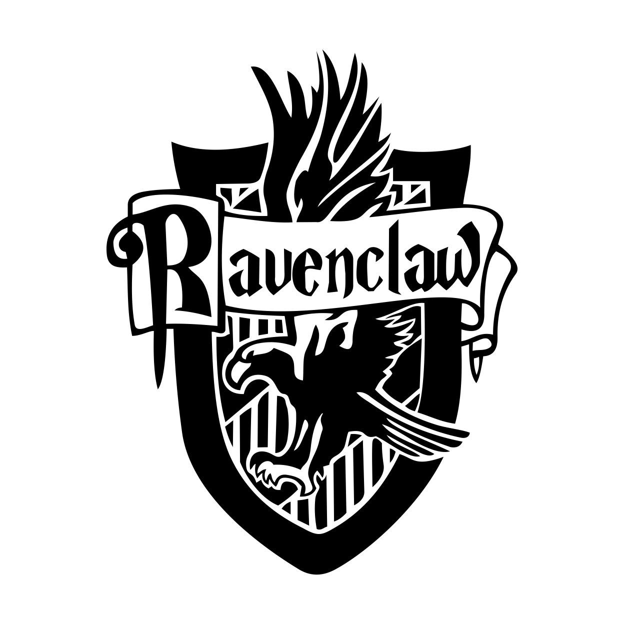 Ravenclaw Harry Potter House Badge Crest Graphics Design