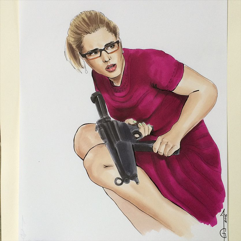 نتیجه تصویری برای ‪felicity smoak fan art Pinterest‬‏