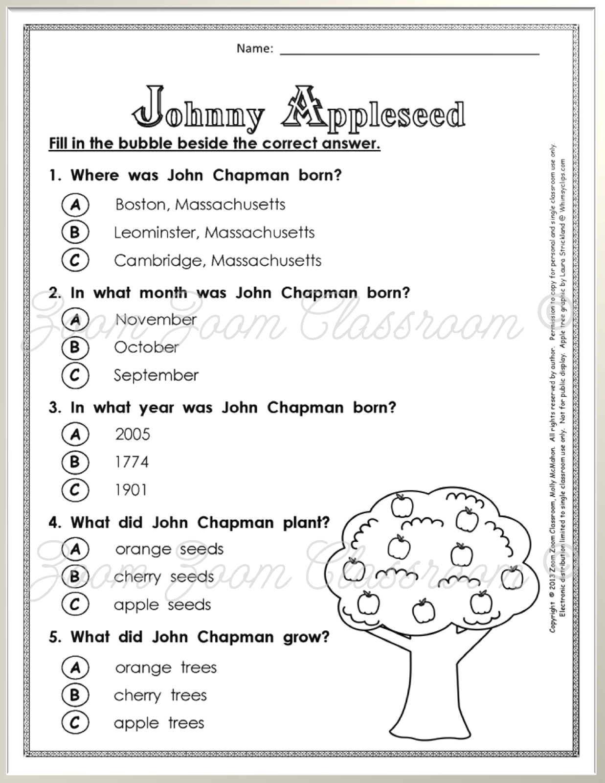 worksheet Johnny Appleseed Worksheets 1000 images about johnny appleseed on pinterest citizenship apple unit and number bonds