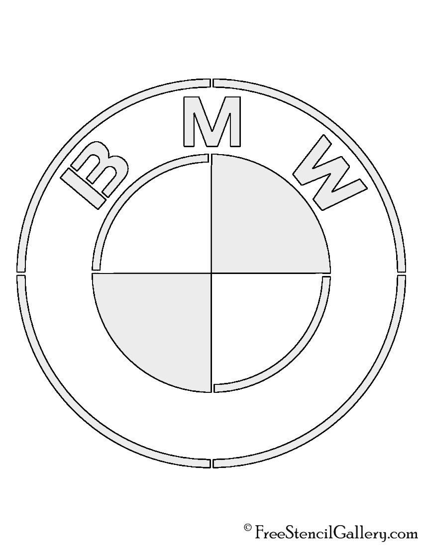 Bmw Logo Stencil Bmw Logo Bmw Cars Coloring Pages