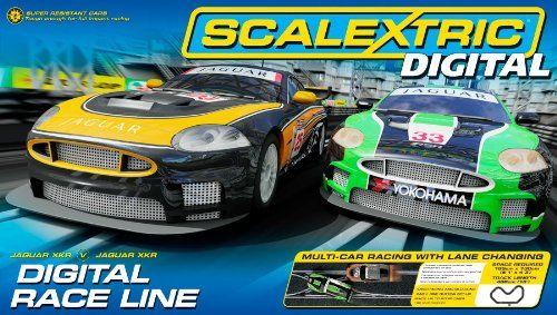 Scalextric Digital C1275 Race Line 1 32 Scale Race Set Amazon Co Uk