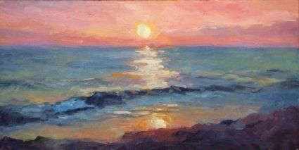 Tribute To A Beautiful Earth Series Cape Cod Sunset Original Art Painting By Deb Kirkeeide Dailypainters