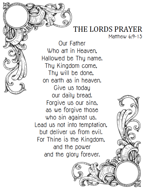 Free Printable Bible Coloring Pages Bible Printables Lord S Prayer Coloring Pages The Lords Prayer Te Prayers For Children Bible For Kids Bible Printables